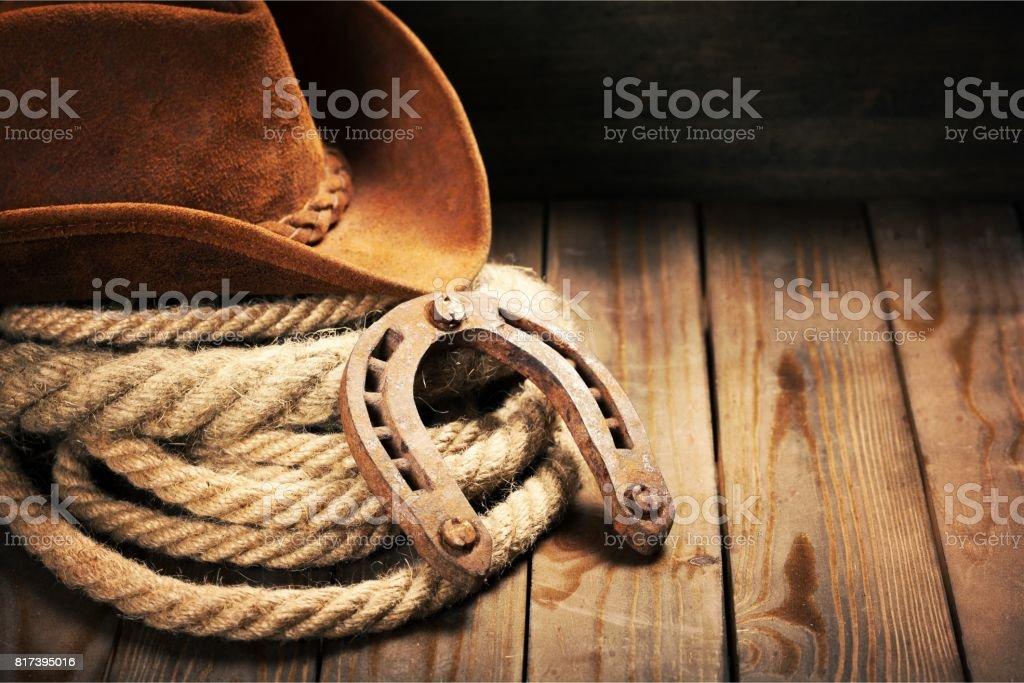 Cowboy. stock photo