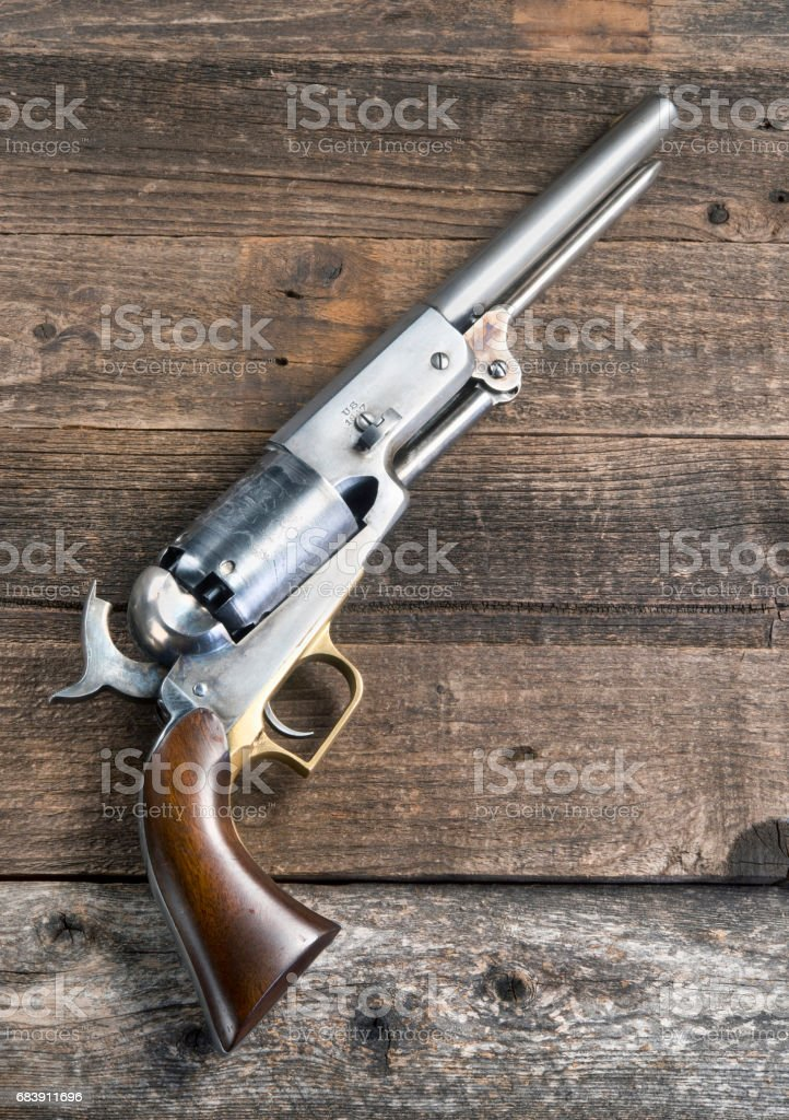 1847 Cowboy Pistol. stock photo
