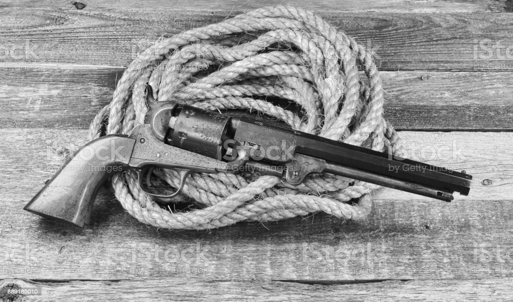 Cowboy Pistol. stock photo