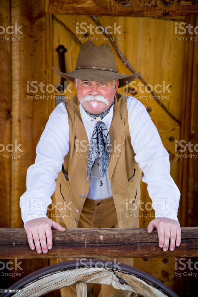 Cowboy Portrait royalty-free stock photo