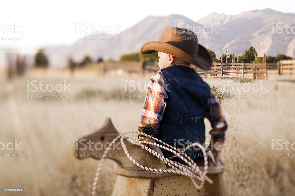 Cowboy Portrait stock photo