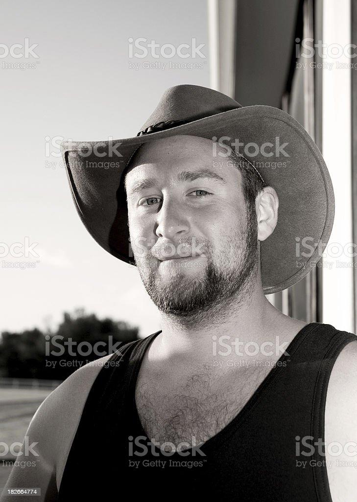 Cowboy Portrait Stylized royalty-free stock photo