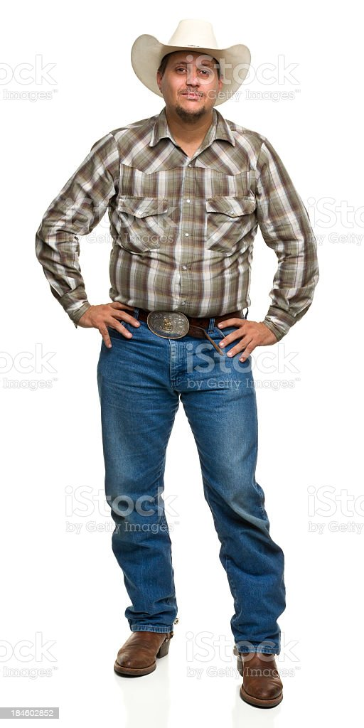 Cowboy Poses With Hands on Hips royalty-free stock photo
