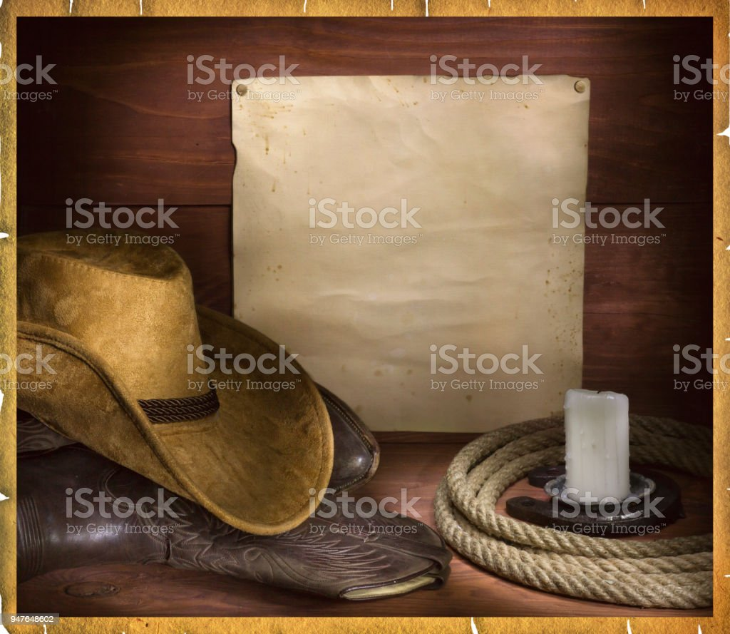 cowboy rodeo background for text stock photo
