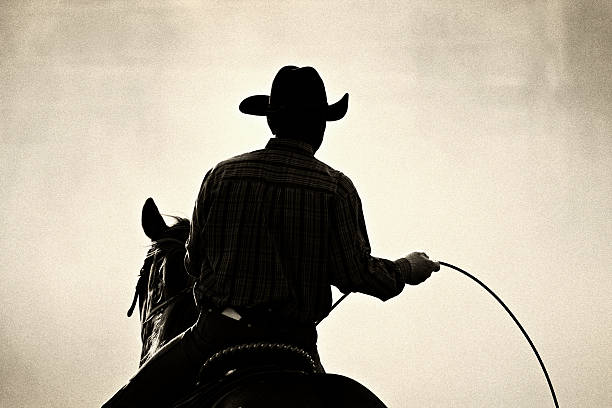 cowboy rodeo stock photo