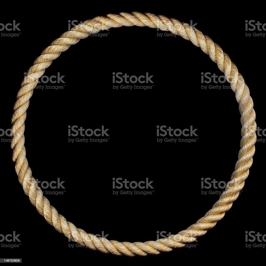Cowboy Rope Frame stock photo