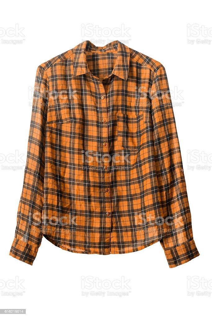 Cowboy shirt isolated stock photo