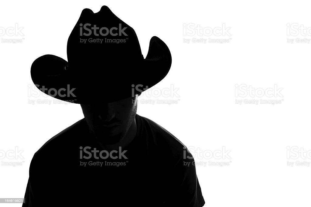Cowboy silhouette royalty-free stock photo