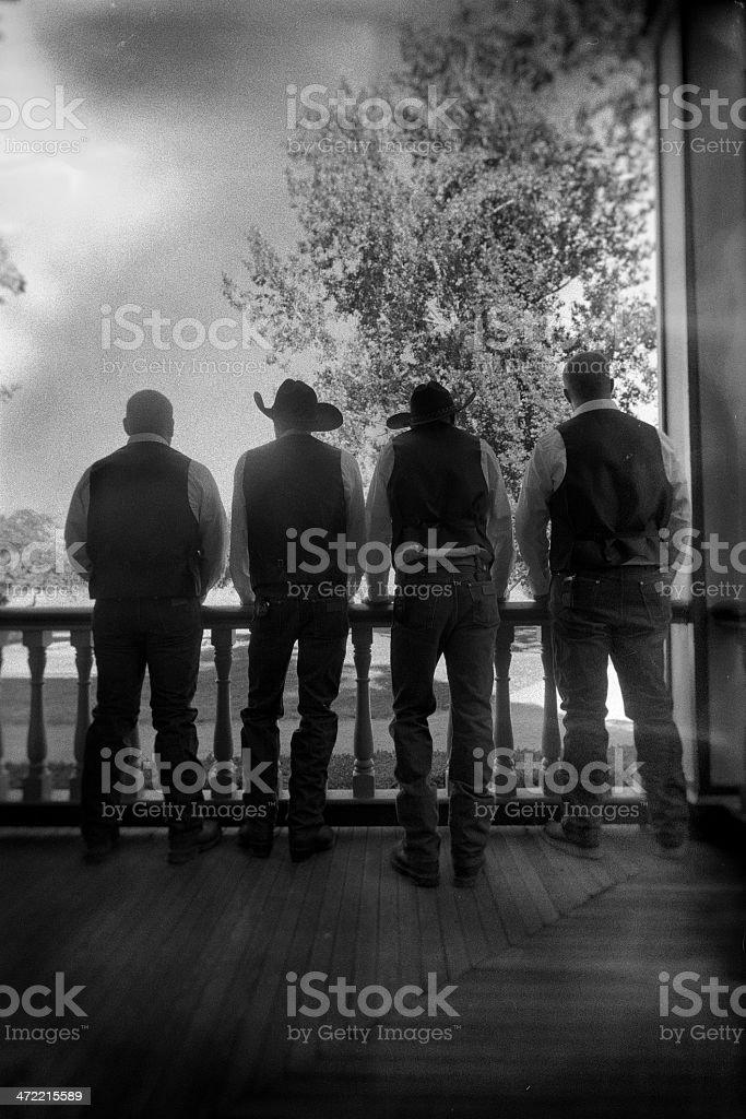 Cowboy Silhouettes stock photo