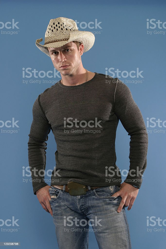 Cowboy Stance royalty-free stock photo