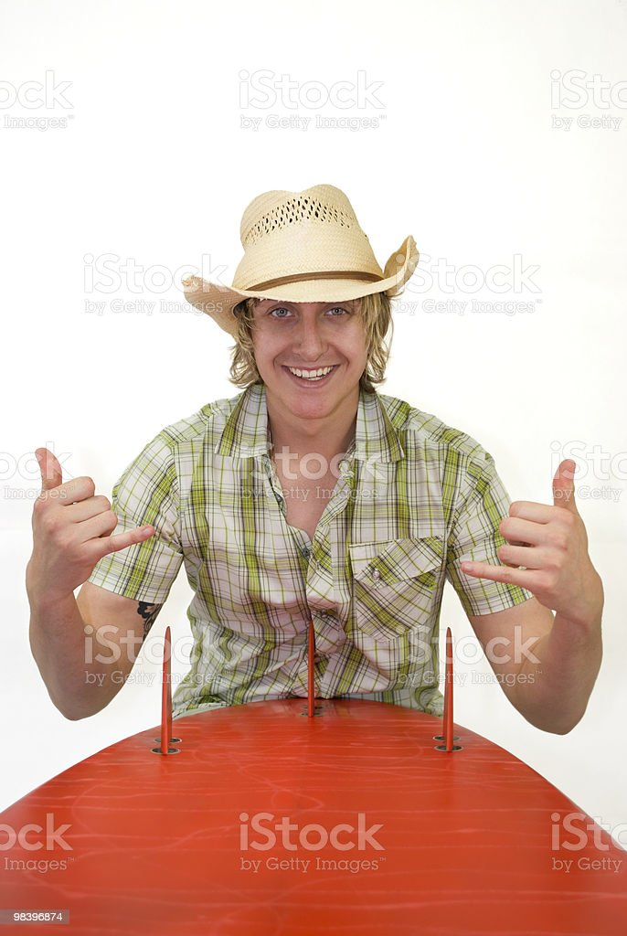 Cowboy Surfer royalty-free stock photo