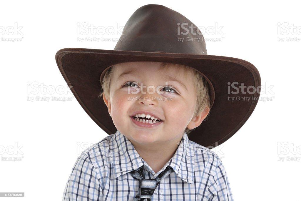 Cowboy toddler stock photo