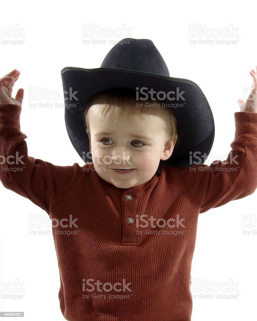 Cowboy Toddler royalty-free stock photo