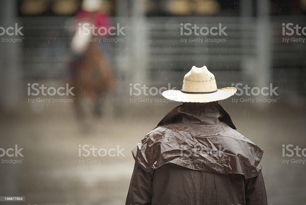 cowboy waiting royalty-free stock photo