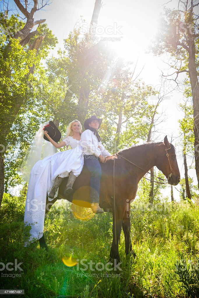 Cowboy Wedding royalty-free stock photo