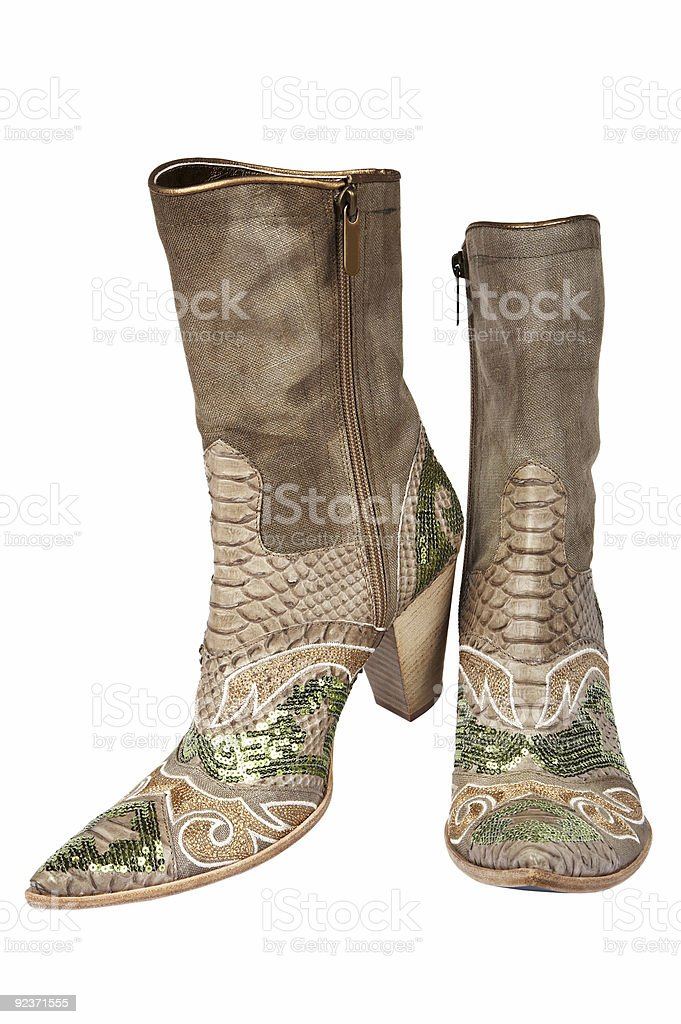 Cowboy's boots royalty-free stock photo
