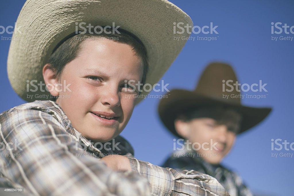 Cowboys friends royalty-free stock photo