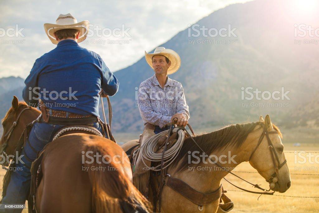 Cowboys auf der Range – Foto