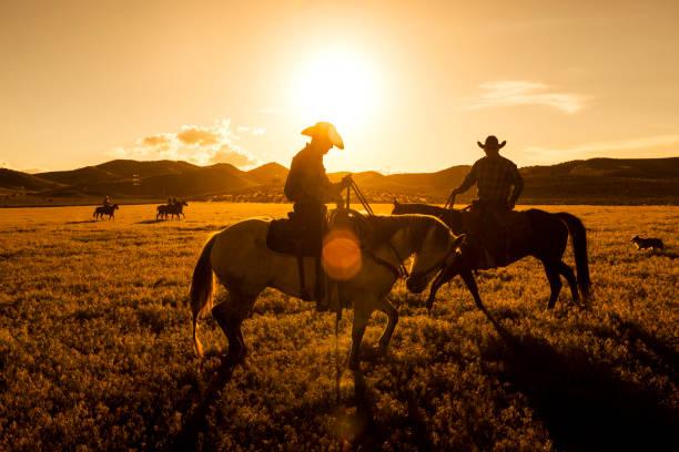 Cowboys Reiten auf Santaquin Tal von Salt Lake City SLC Utah USA – Foto