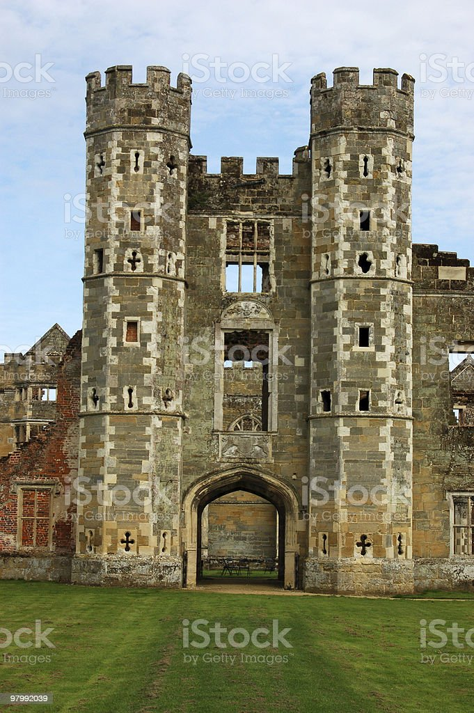 Cowdray Ruins, West Sussex royalty-free stock photo