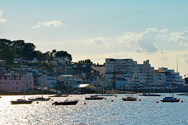Cowes Seafront - Isle of Wight stock photo