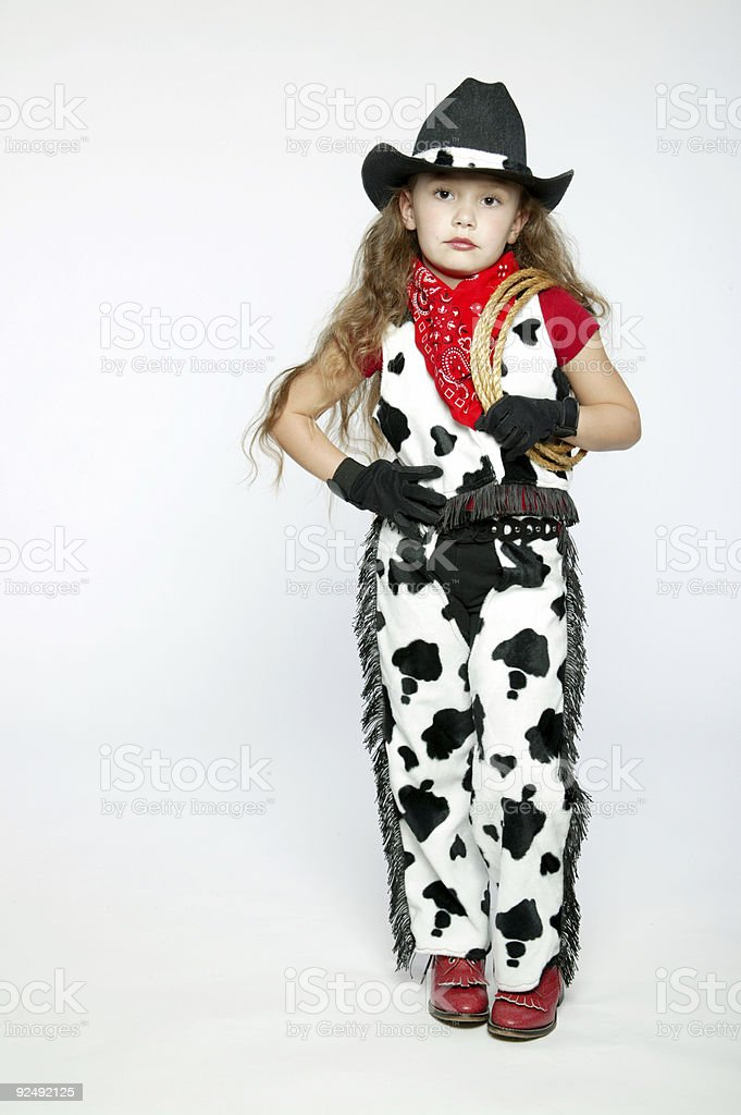 Cowgirl 0002 royalty-free stock photo
