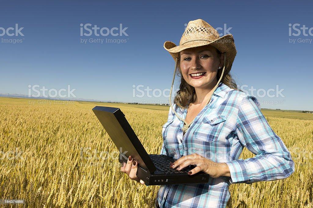 Cowgirl Computing royalty-free stock photo