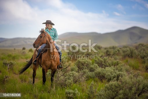 Cowgirl Horseback Riding