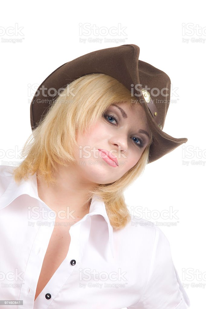 cowgirl look at you royalty-free stock photo