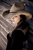 Beautiful young woman in an old west rural setting see more of her here ...