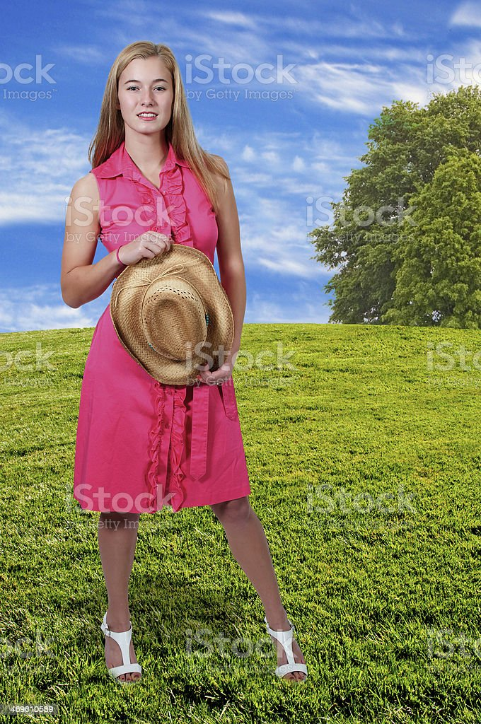 Cowgirl stock photo