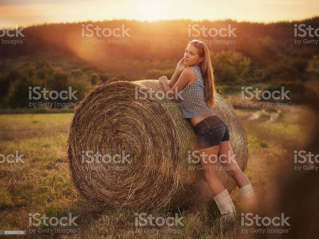 Sex in the hay filed