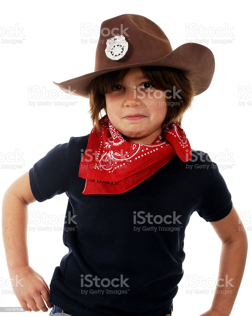 Cowgirl Playing Tough royalty-free stock photo