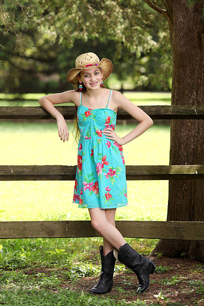 ... Cowgirl Portrait stock photo ...