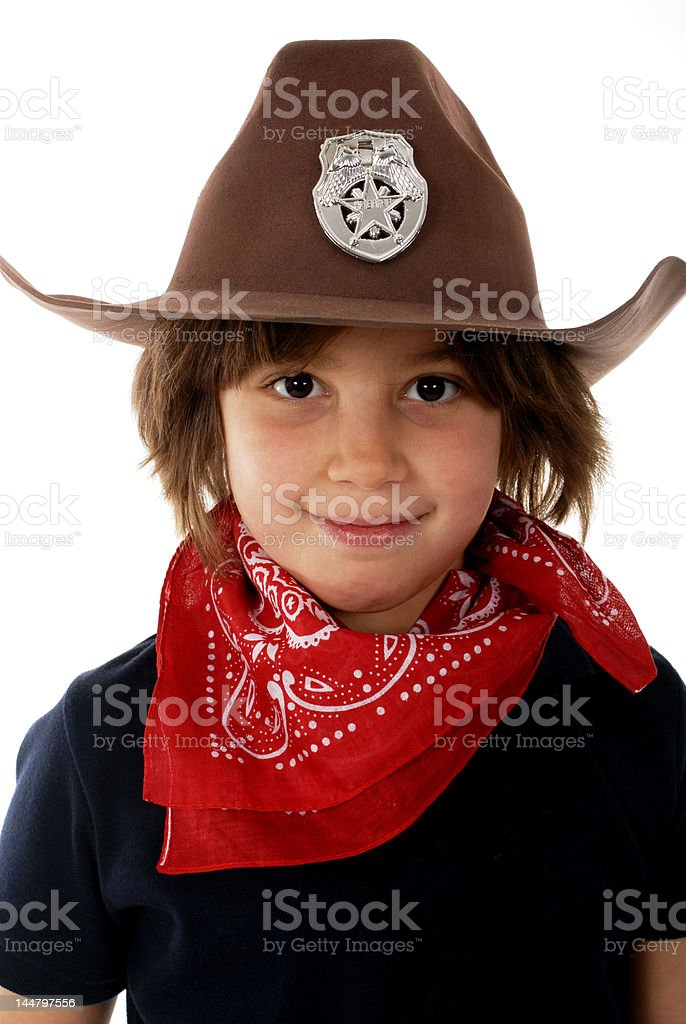 Cowgirl Sheriff royalty-free stock photo