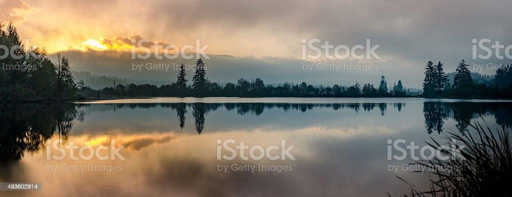 Cowichan Valley - Dougan Lake, BC stock photo
