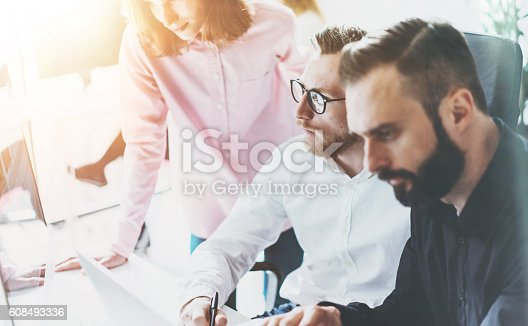 533699494istockphoto Coworkers Business Meeting Process Sunny Office.Closeup Teamwork Modern Concept 608493336