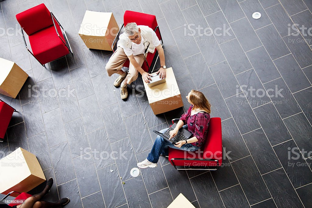 coworkers having discussion royalty-free stock photo