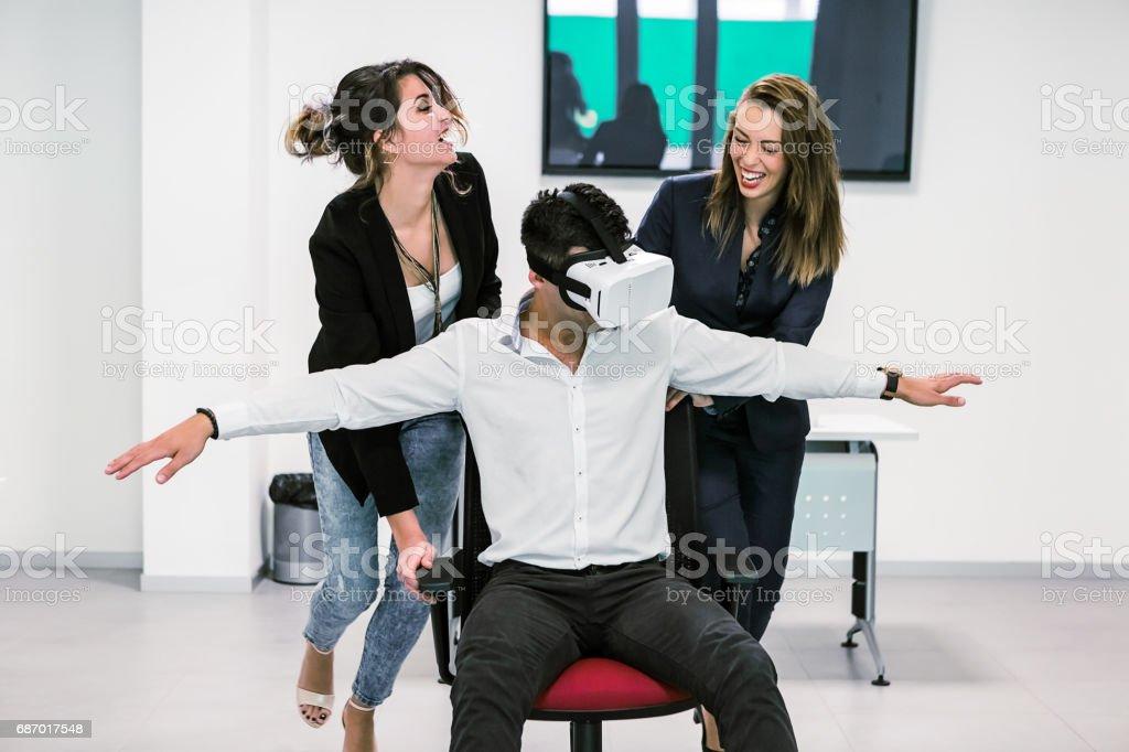 Mitarbeiter, die Spaß Lizenzfreies stock-foto