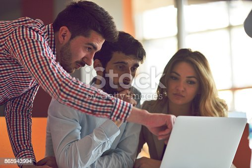 istock Coworkers Team Work Modern Office Place. 865943994
