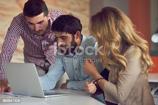 istock Coworkers Team Work Modern Office Place. 865947428