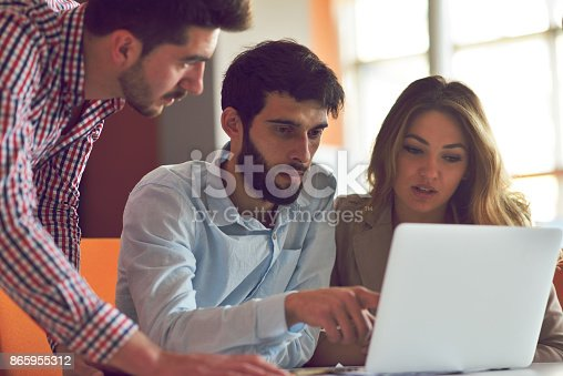 istock Coworkers Team Work Modern Office Place. 865955312