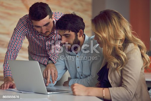 istock Coworkers Team Work Modern Office Place. 865955676