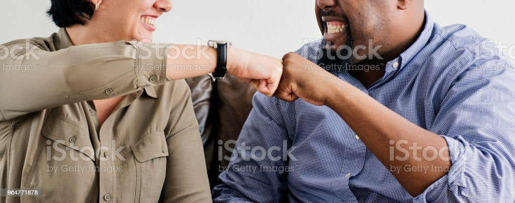 Co-workers working together in the office royalty-free stock photo