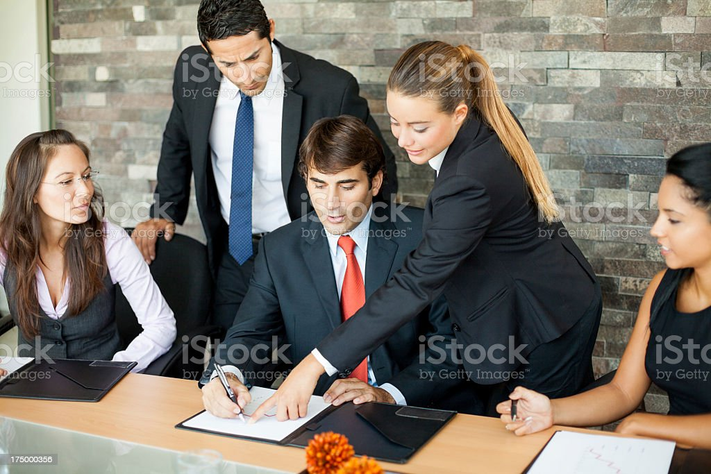 Coworkers working together royalty-free stock photo