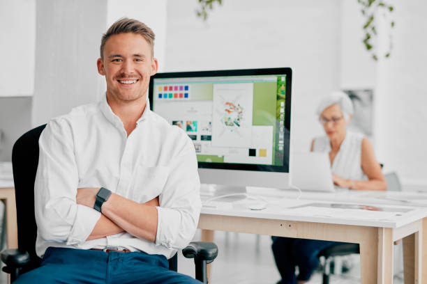 Coworking is the best option for us stock photo