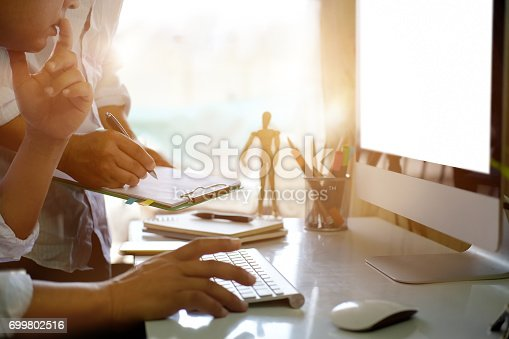 istock Coworking process concept. 699802516