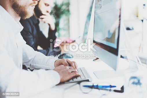533699494 istock photo Coworking team.Startup manager new project work process.Photo young 528606054
