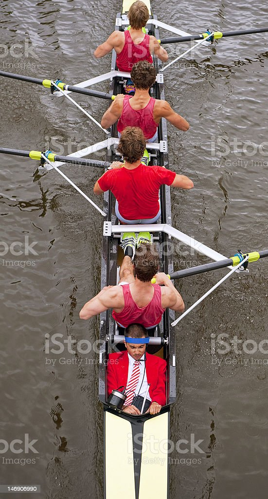 Coxed four stock photo