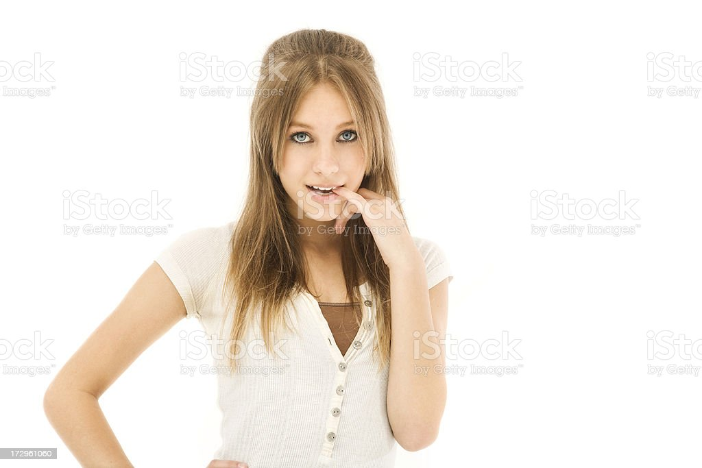 Coy Teen royalty-free stock photo